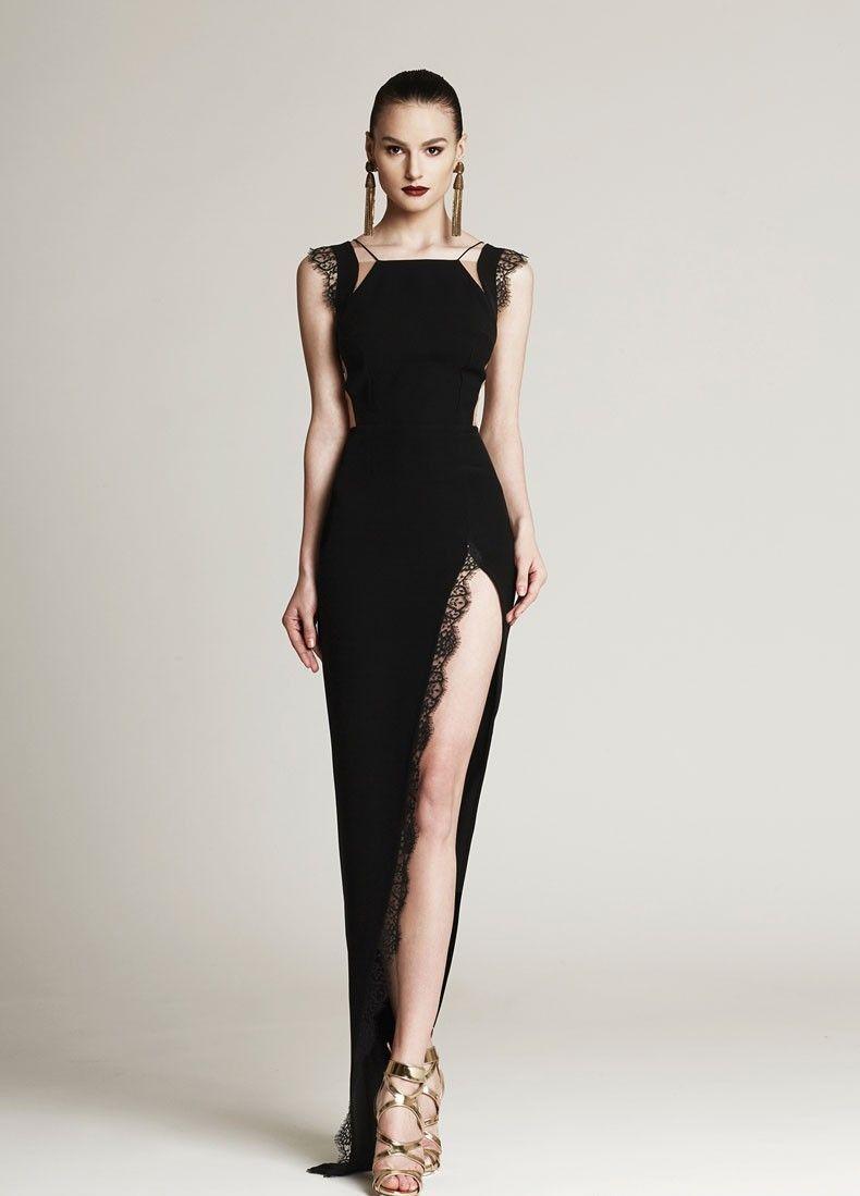 477eb97ce38 Вечернее платье с глубоким разрезом