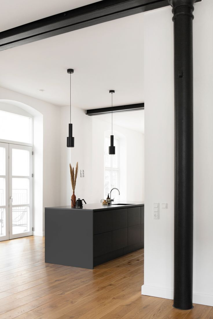 We decided to hang two Pendant Lights A110 in BlackBlack by