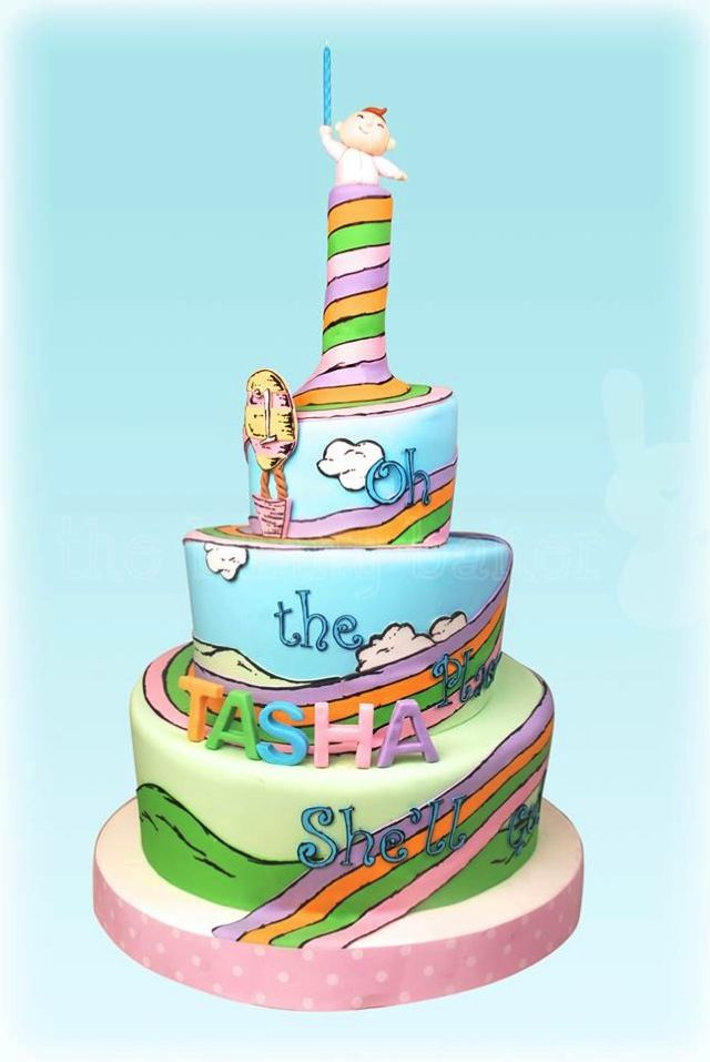 Splendid Oh The Places Youll Go Cake Lillys 1st Birthday