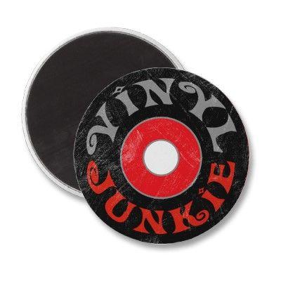 Vinyl Junkie Magnet Zazzle Com In 2020 Vinyl Junkies Vinyl Record Shop Vinyl
