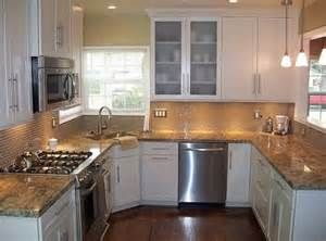 Small U Shaped Kitchen With Narrow Island And Corner Sink Yahoo Image Search Results Kitchen Remodel Small Kitchen Design Small Bungalow Kitchen