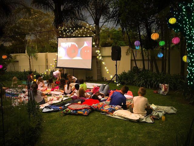 Emoji Movie night Party cute outdoor starlight cinema idea - big