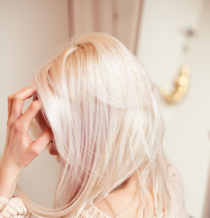Baby Blonde With A Touch Of Pink Underneath Pink Blonde Hair Hair Hair Inspiration Color