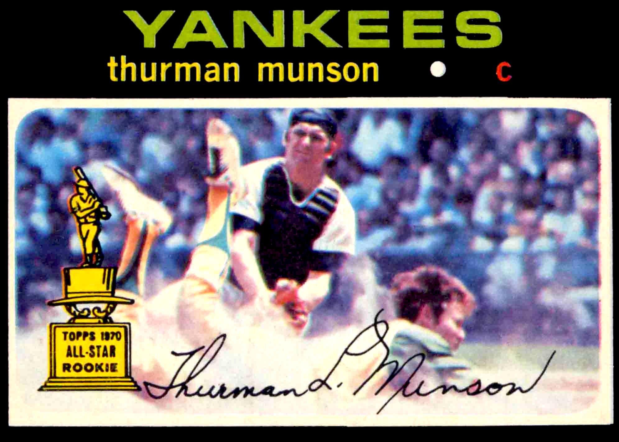 1971 Munson. Baseball cards, Baseball card values