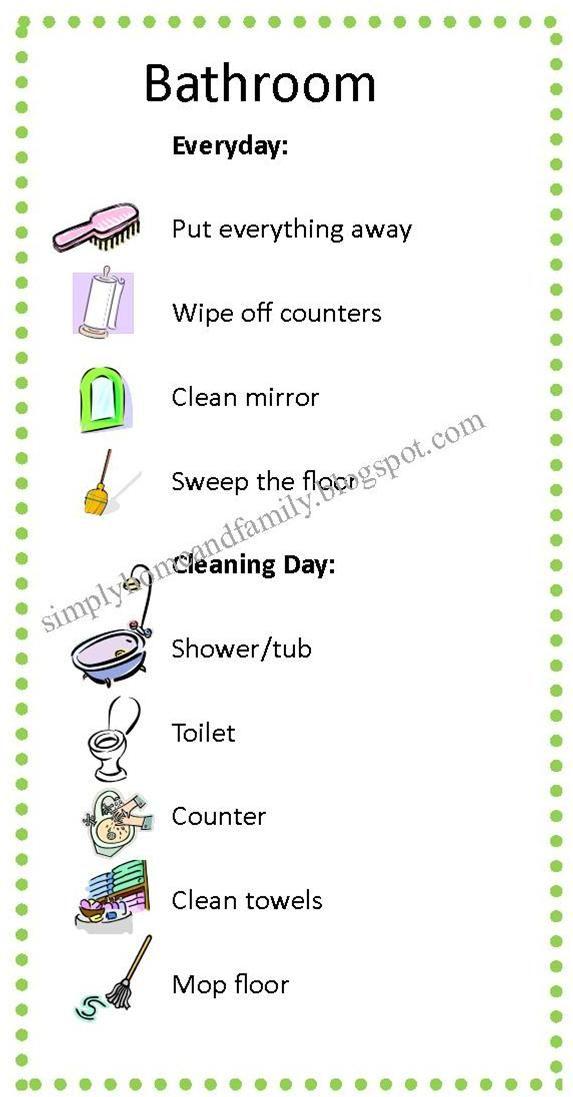 clean bathroom list jpg 573 1 097 pixels. clean bathroom list jpg 573 1 097 pixels   housekeeping