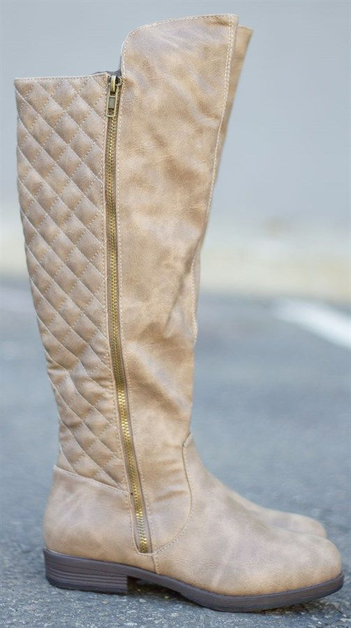 2c9eb4a3652 Check out these gorgeous quilted riding boots! We have them in a camel color  (