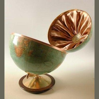 Weltkugel Globus Mit Bar 1950 1955 Decorative Bowls Globe