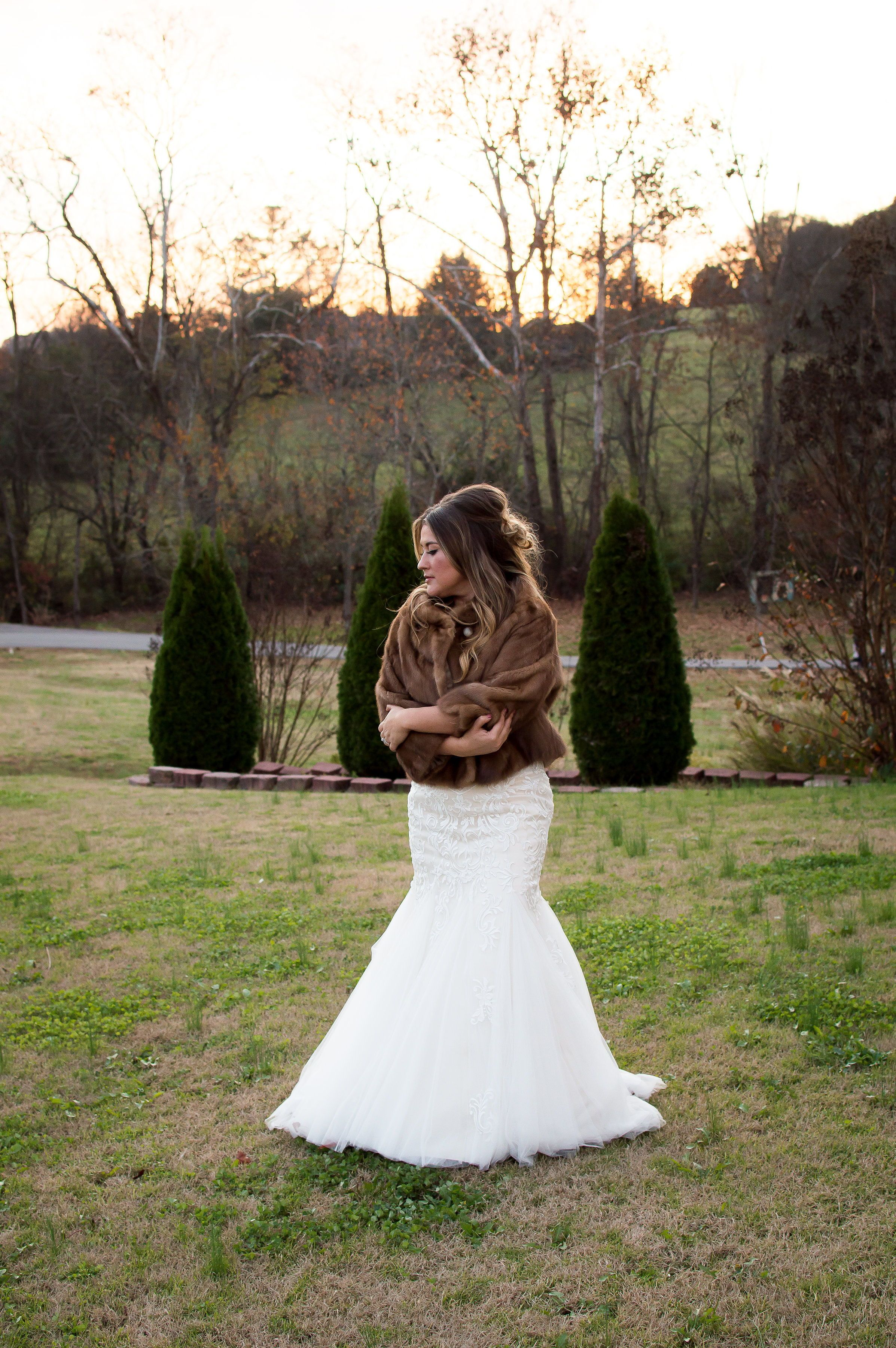 Fur wedding dress  I Found A Love For Me  Bridal Party Accessories  Pinterest