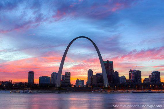 St Louis Skyline Photography Saint Louis Print St Louis Etsy St Louis Skyline Landscape Photography Saint Louis Arch