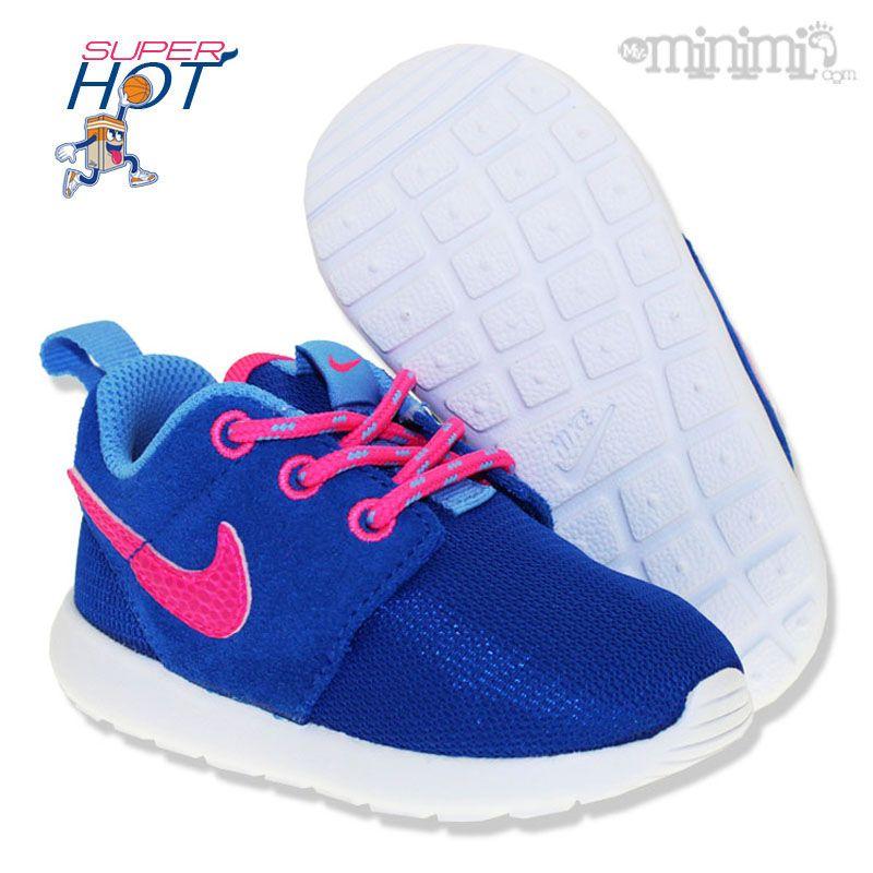 new style 6c455 b5ba3 Photo Nike Rosherun TD, PS et GS bleu et rose - baskets enfant disponible  du 21 au 38.5 rosherun nike baby bebe modeenfant modebebe  kidsgotswag ...