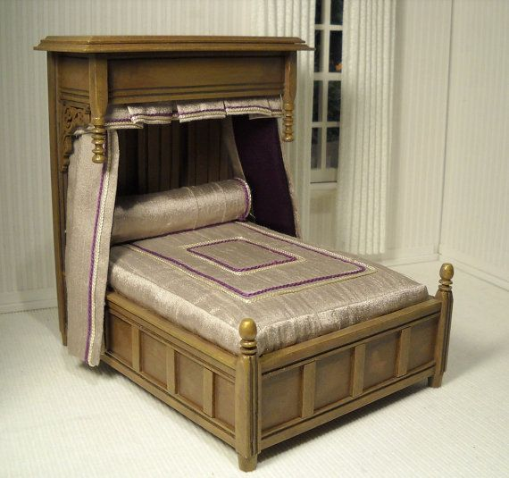 One of a kind half tester bed in 1 12 scale scale etsy for One of a kind beds