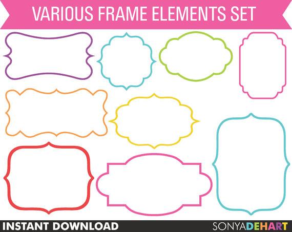 Clipart Frames, Clip Art Frames, Frame Clipart, Label Clipart ...