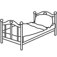 Bett strichzeichnung  bett.jpg   Ausmalbilder Möbel   Pinterest   Ausmalen, Klasse und ...