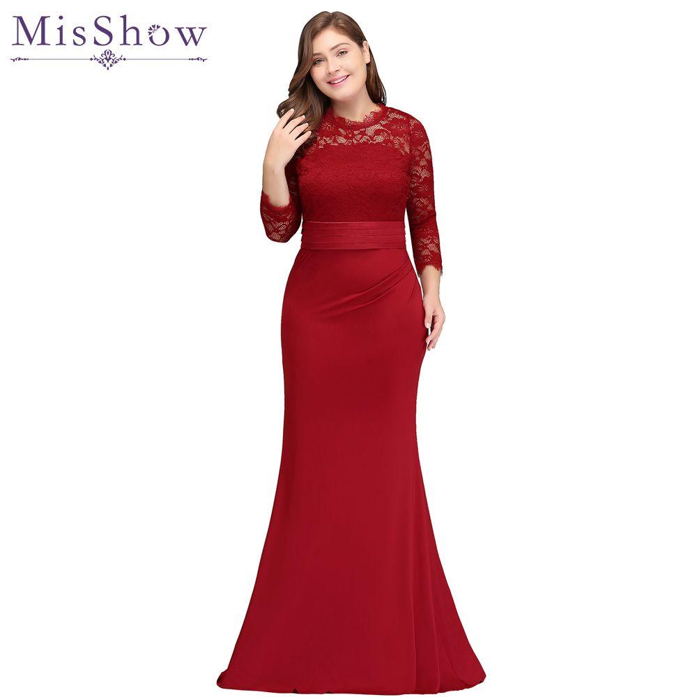 Robe de soiree plus size avondjurken kerst jurk goedkope rode