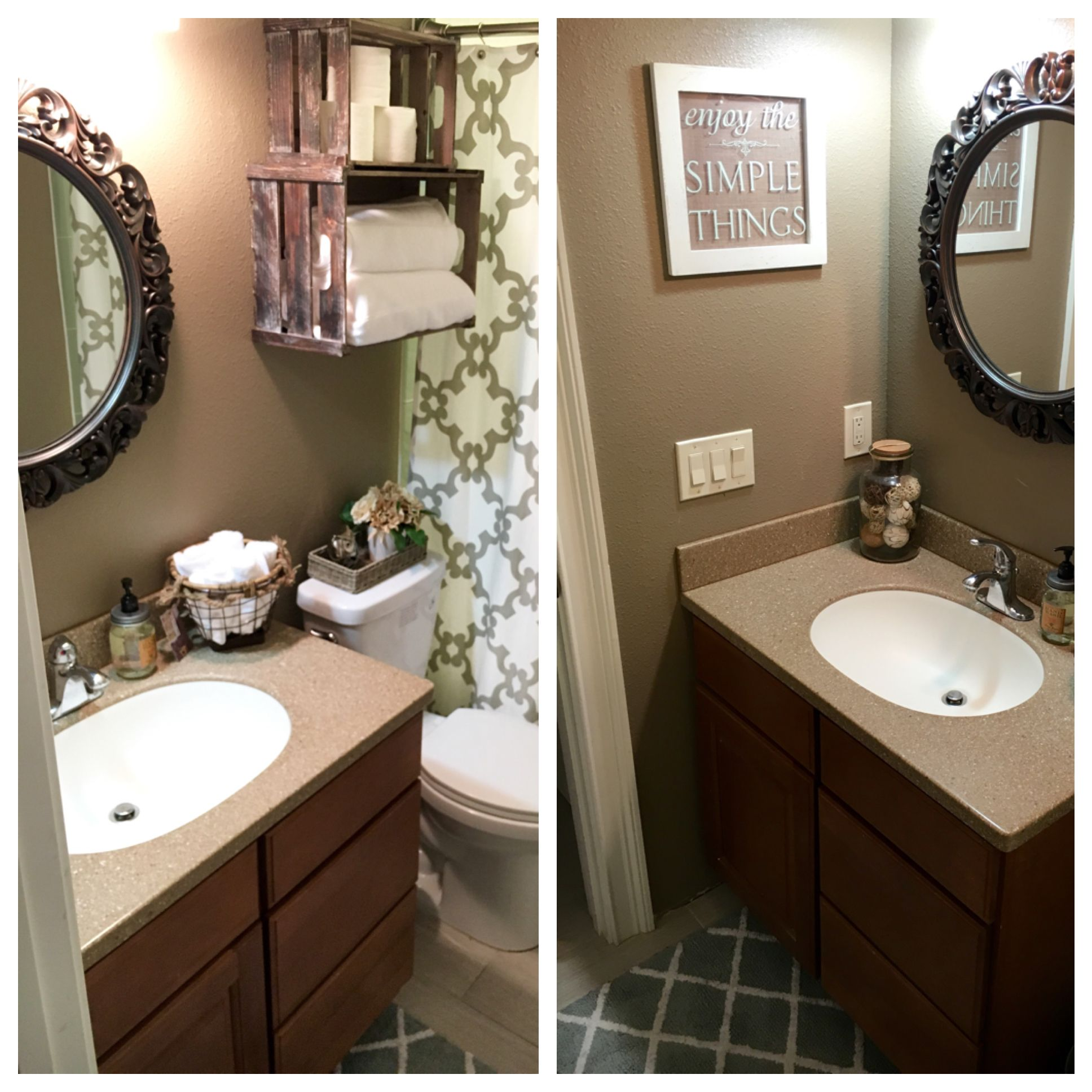 Small guest bath makeover! | Bath makeover, Bathroom ...