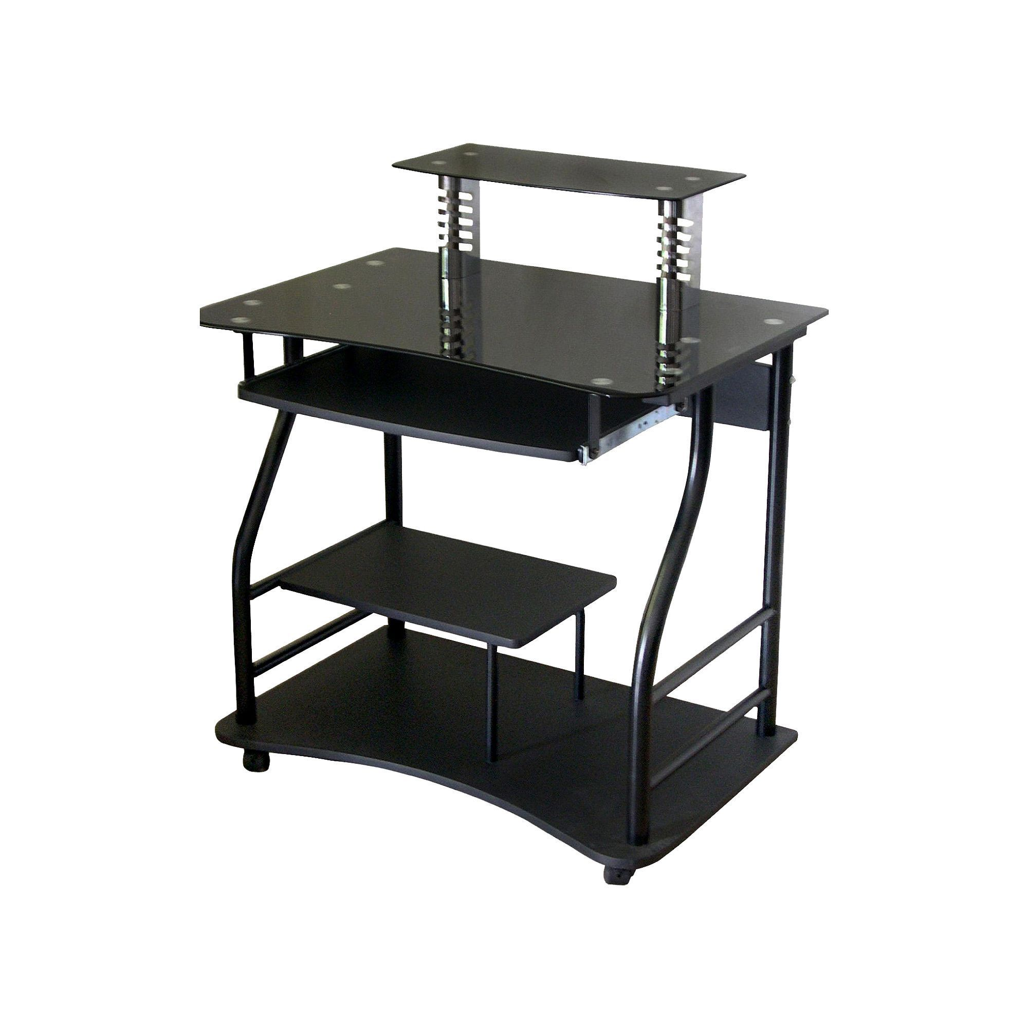with in simple out l plus rolling fashionable desk seen as shaped the computer most desks tray inspirations design well brown wooden keyboard ideas