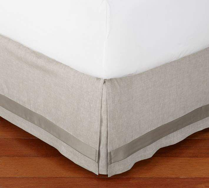 Linen With Silk Trim Bed Skirt Daybed Covers Bed