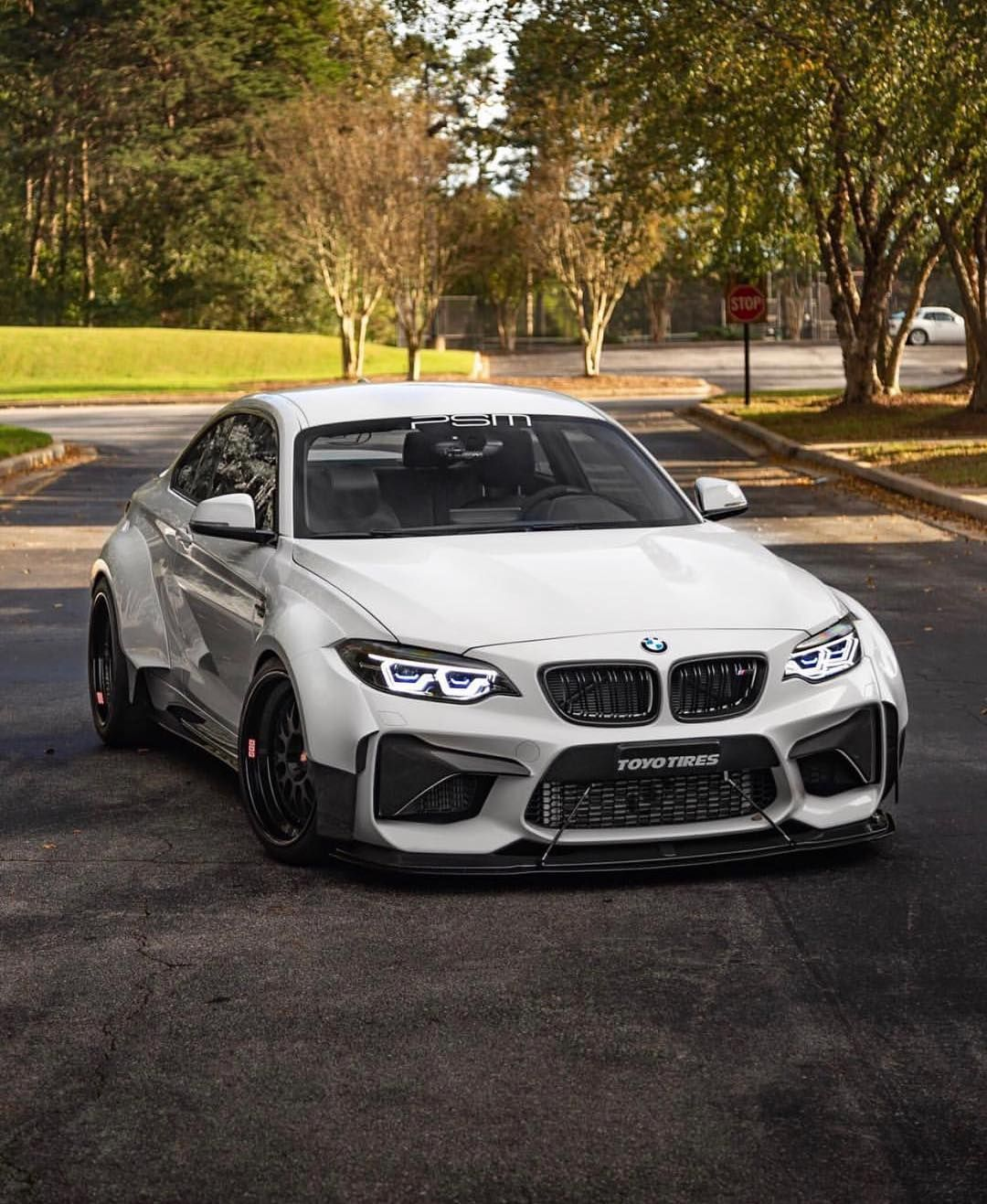 Bmw F87 M2 White Widebody With Images Bmw Ghost Shirt