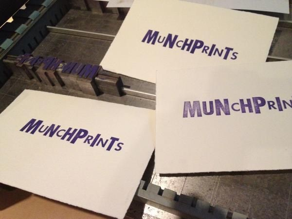 "@caw_ via Twitter: ""Getting ready"" #ncmapinup #munchprints"