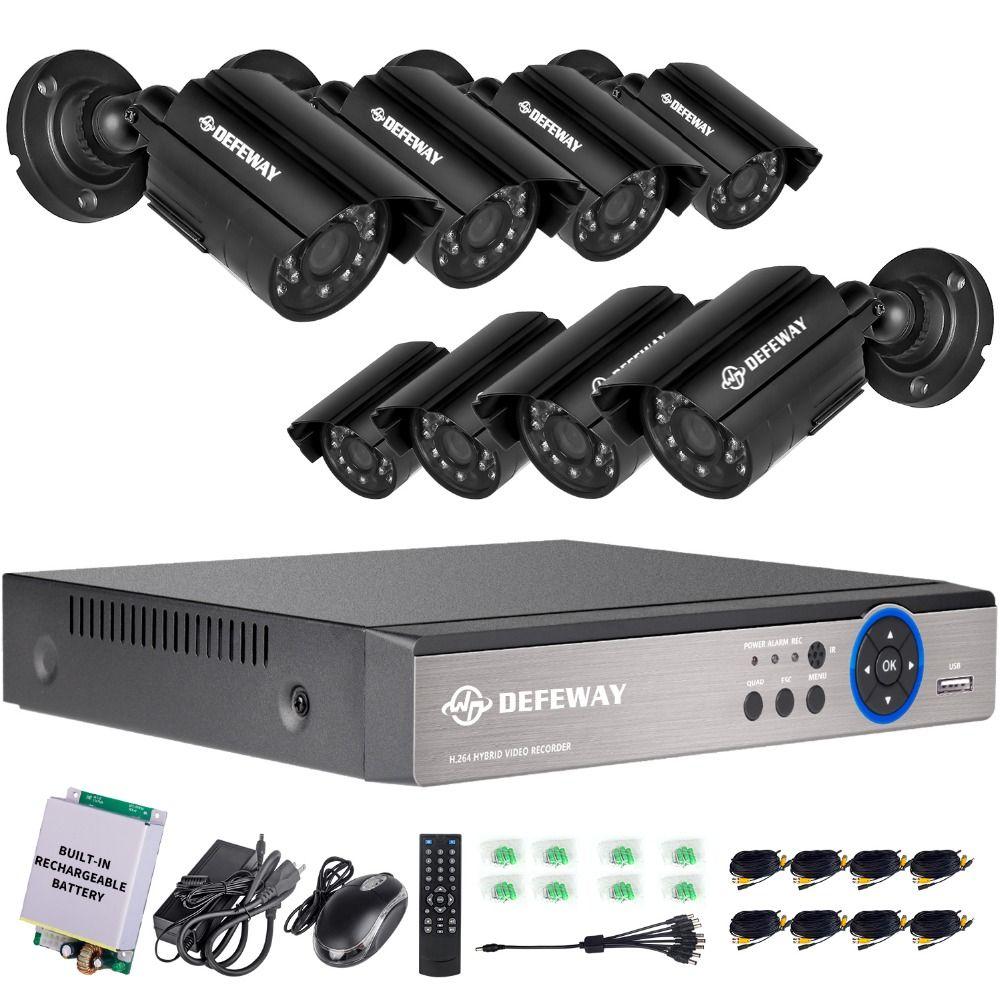 Defeway 8ch 1200tvl Hd Outdoor Home Security Camera System Cctv Video Surveilla Security Cameras For Home Home Security Camera Systems Outdoor Security Camera
