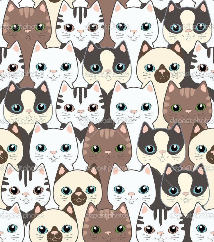k233ptal225lat a k246vetkezőre �cat pattern wallpaper� motif