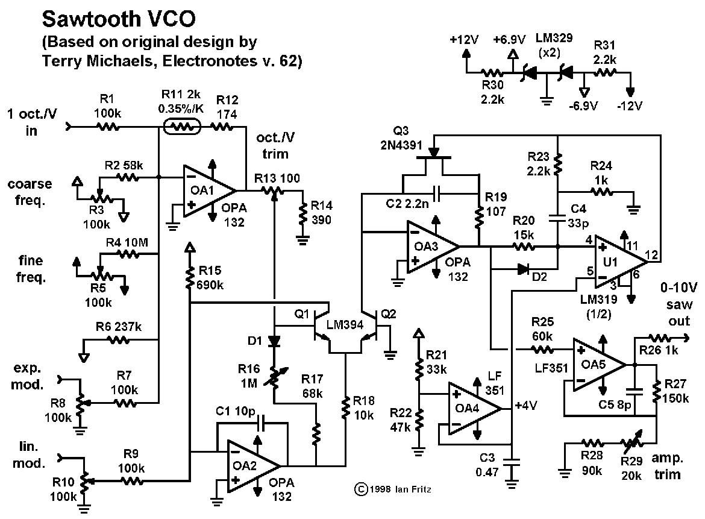 electro  sawtooth vco by ian