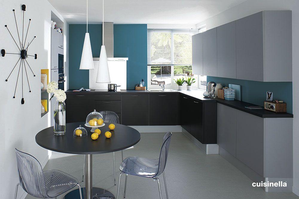Stunning Cuisine Gris Bleu Turquoise Photos - Design Trends 2017 ...