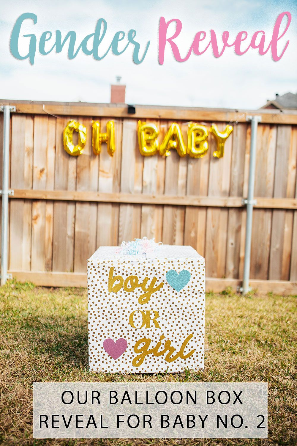 Gender Reveal Box Diy And Details From Our Gender Reveal Party Gender Reveal Box Gender Reveal Balloon Box Gender Reveal Balloon Box Diy
