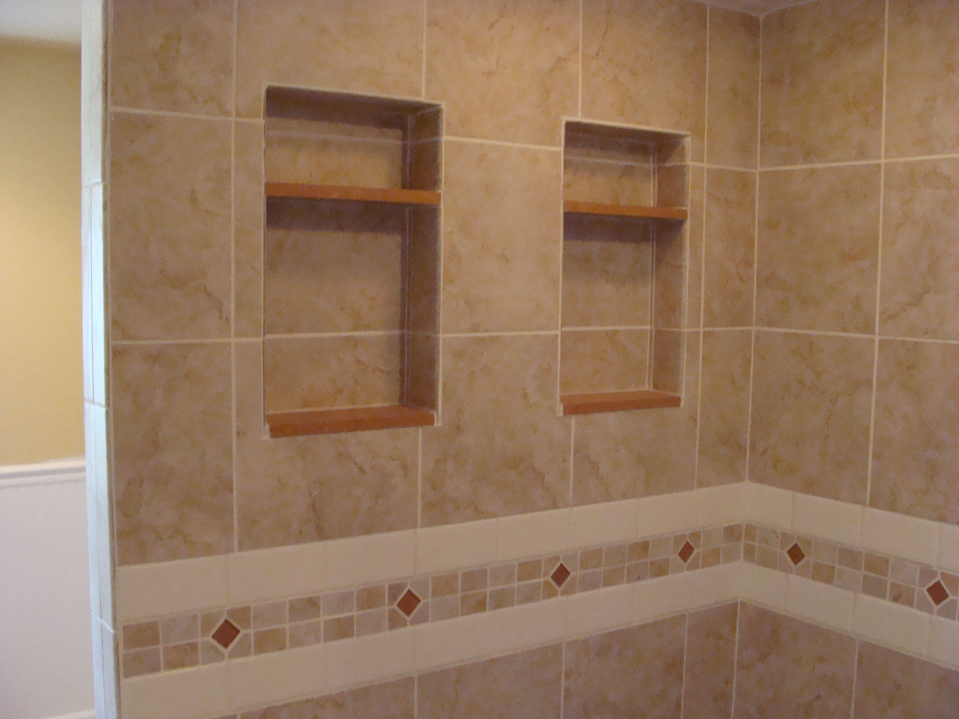 Twin Shower Niches Quartz Shelves Amp Sills Bathrooms And
