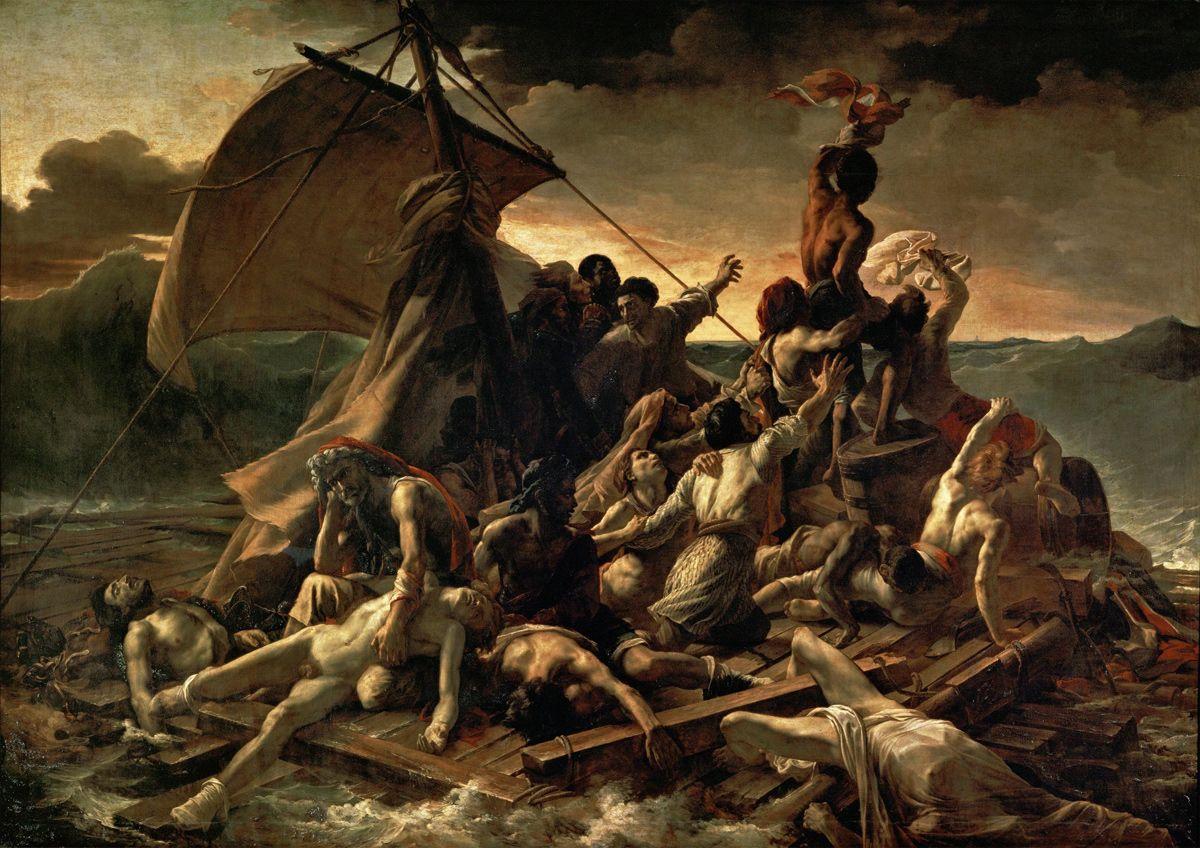 La Balsa de la Medusa (en francés : Le Radeau de la Méduse) es una pintura al óleo hecha por el pintor y litógrafo francés del Romanticismo , Théodore Géricault entre 1818 y 1819 . La pintur...