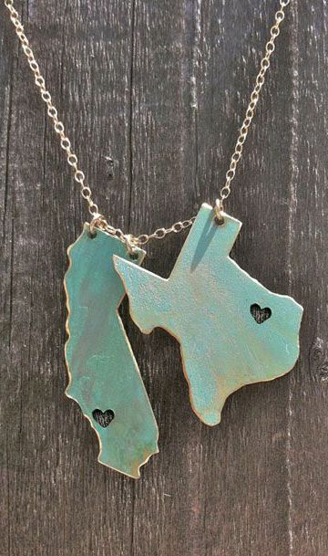 Live love 2 state necklace silverware pinterest state live love 2 state necklace aloadofball Images