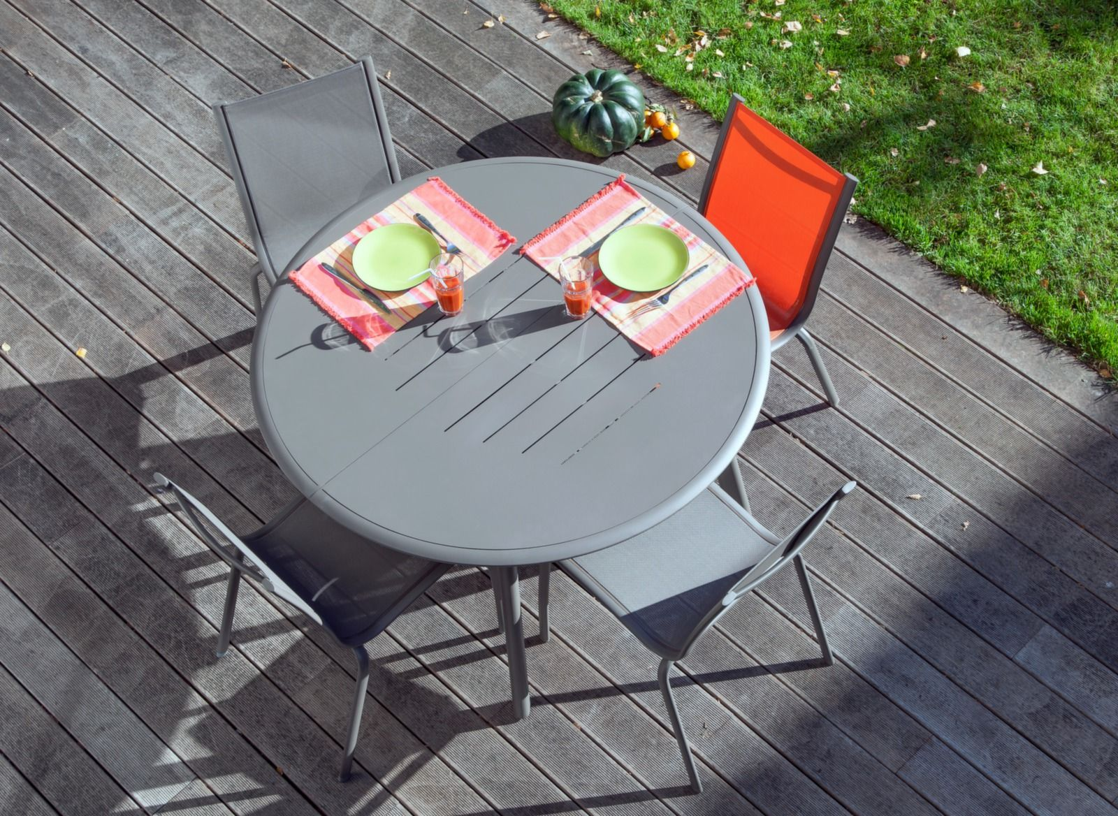 Salon de jardin table 160cm Brasa + 6 chaises - Proloisirs ...