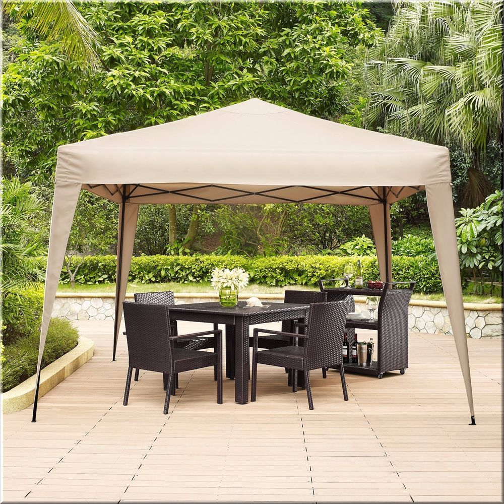 outdoor gazebo canopy shelter collapsible square 12x12 garden