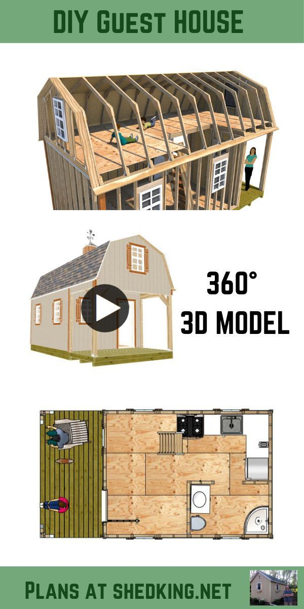 This guest house plan is perfect for building your ...