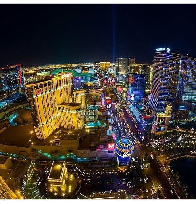 The great neon strip at night! Love it. Las vegas trip