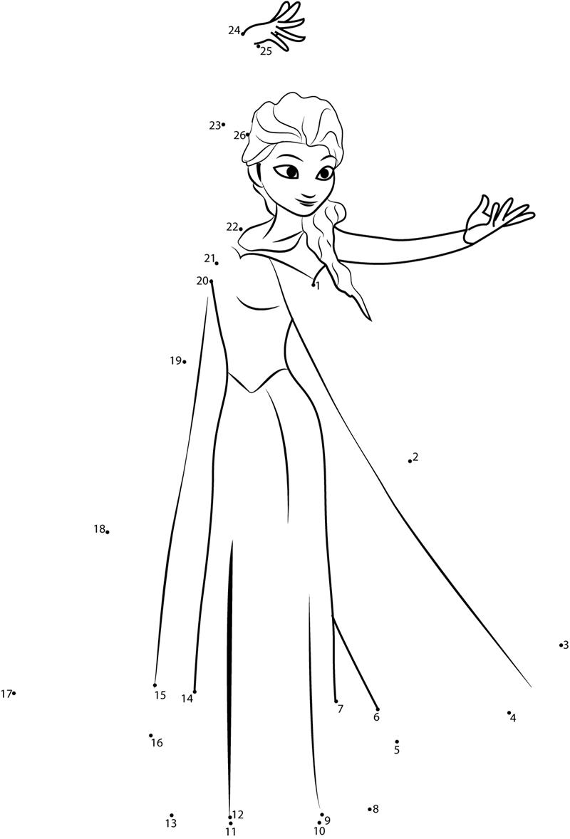 Unisci puntini stampare elsa frozen disegni da colorare pinterest elsa and activities for Frozen disegni