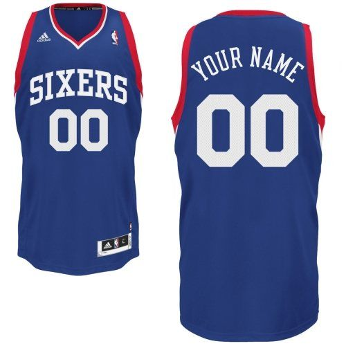 815c52002fd Customized Men Swingman Philadelphia 76ers Alternate NBA Royal Blue Adidas  Tailored Fit Design Jerseys
