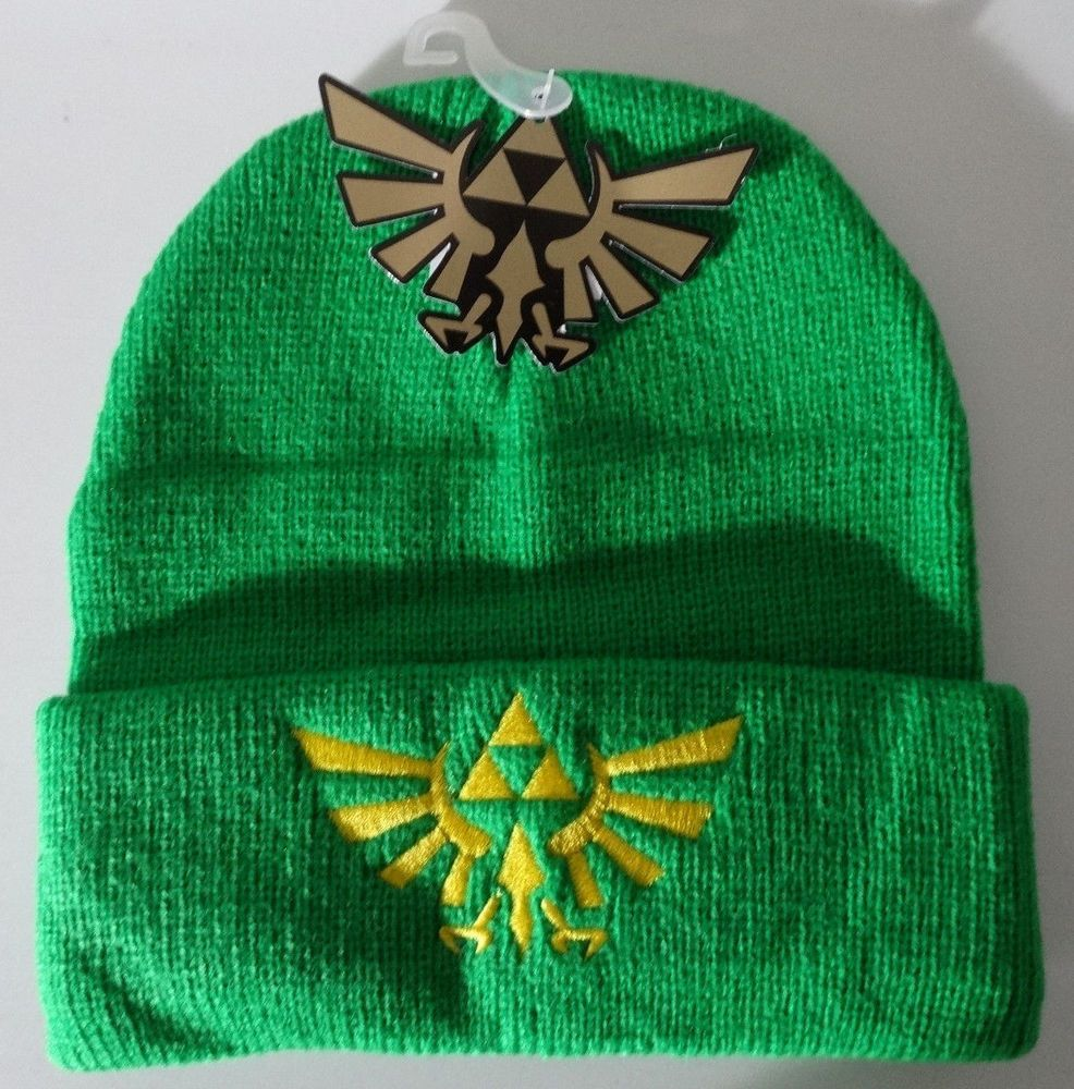 Nintendo The Legend Of Zelda Video Game Logo Green Cuff Beanie Knit Hat   TheLegendOfZelda  Beanie 2a0717ec5cae