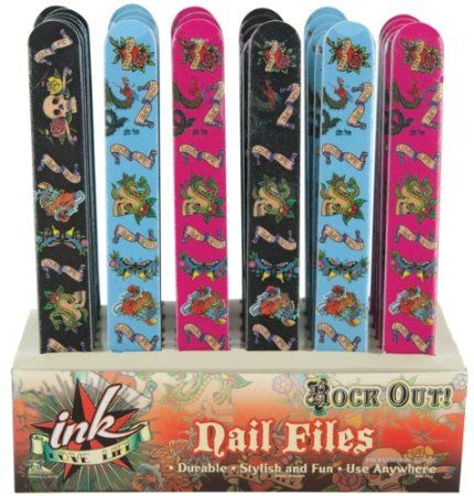 Amazon.com: Rock Out Tattoo Style Skull Nail File: Everything Else