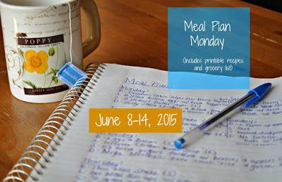 Darcie's Dishes: Meal Plan Monday: 6/8-6/14/15 A complete 7 day menu that includes all meals, snacks and drinks. It is THM compatible and features many low-carb dishes as well. A shopping list is included as well.