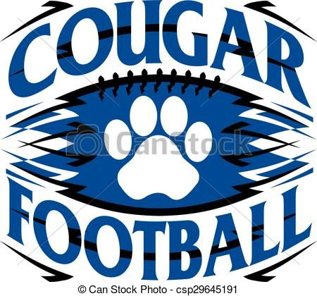 vector cougar football stock illustration royalty free rh pinterest com au cougar clipart black and white cougar clip art free