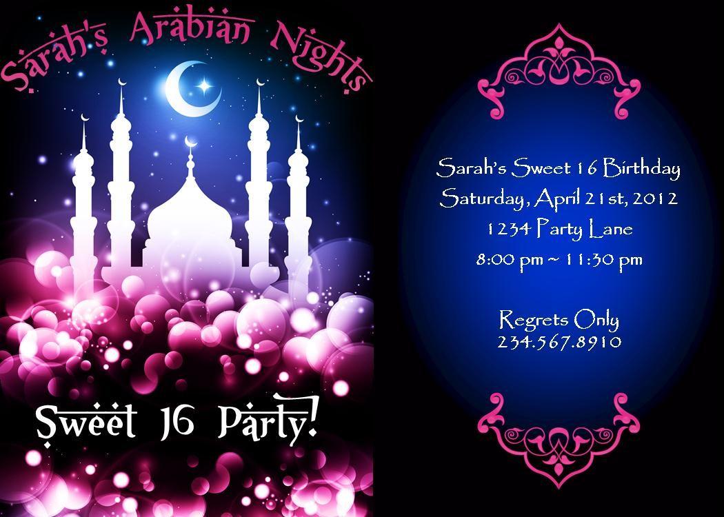 Arabian Theme Party Favors – Arabian Nights Party Invitations