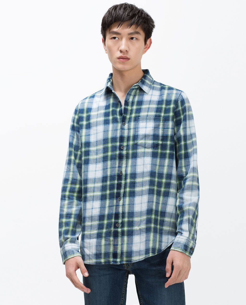 Dress up flannel shirt  Image  of CHECKED SHIRT from Zara  plaid  Pinterest  Shirts