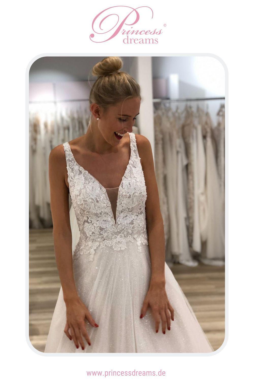 Brautkleid Toi Spose mit Spitze und Glitzer  Ein Hochzeitskleid