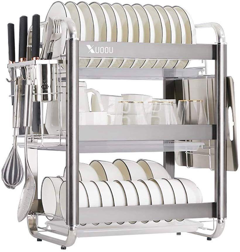 Dish drying rack space saving dish rack stainless steel