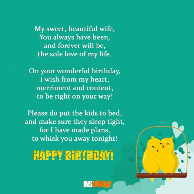 Romantic Happy Birthday Poems For Wife With Love From