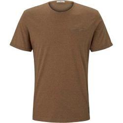Photo of Tom Tailor men's t-shirt in a melange look, brown, plain-colored, size L Tom TailorTom Tailor