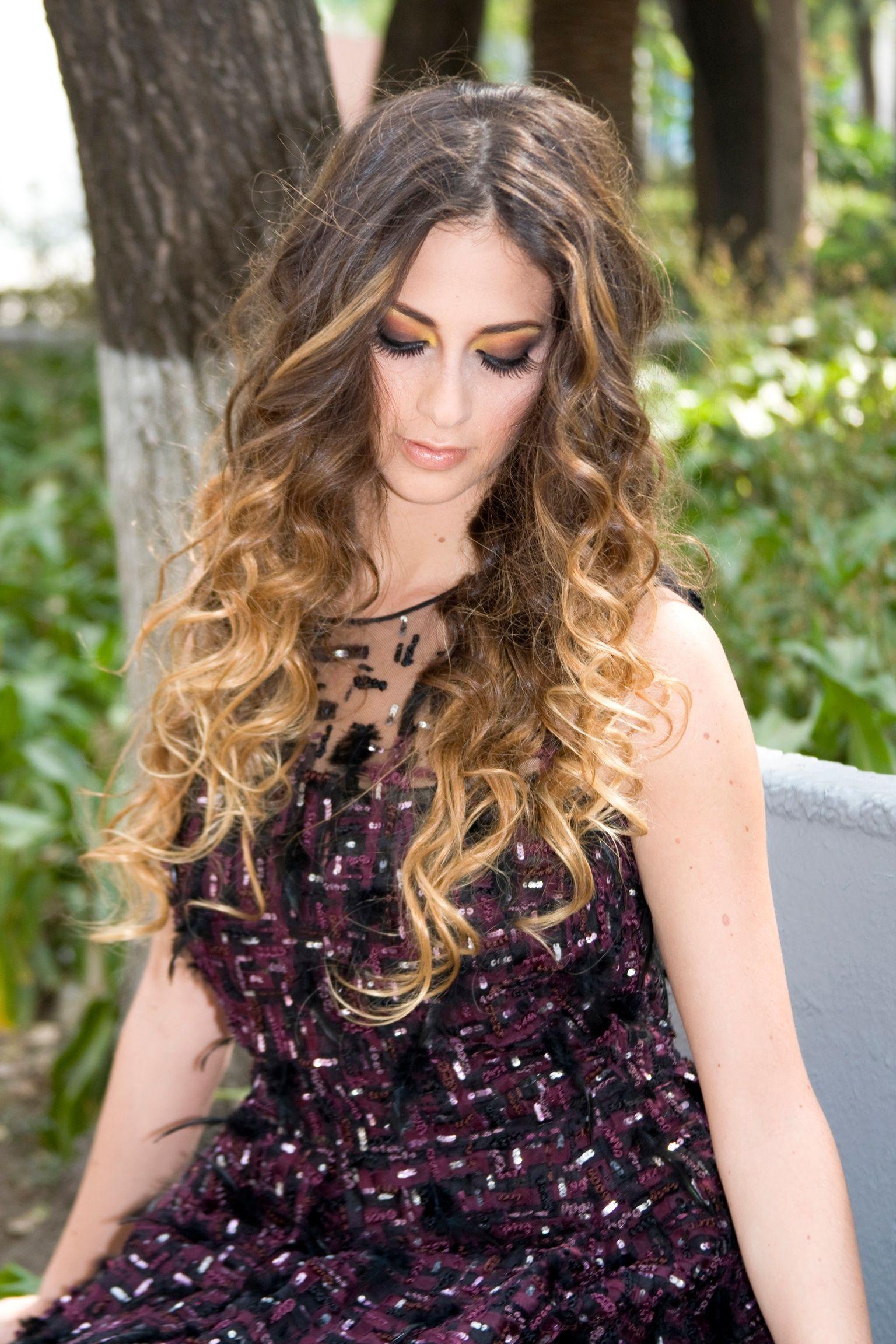 Rápido y fácil peinados con degradado Galería de cortes de pelo estilo - Degradado de color y peinado rizado!!! | Hairstyle ...