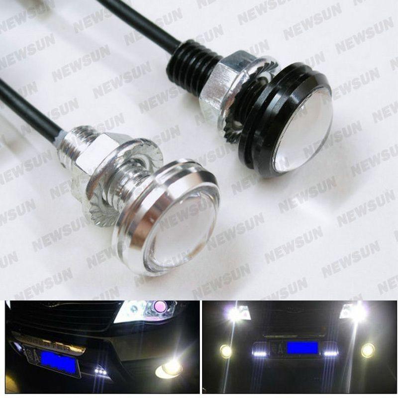 Bolt On Screw 6W LED Eagle Eye Parking Daytime Driving Light Backup DRL Fog  Lamp Car