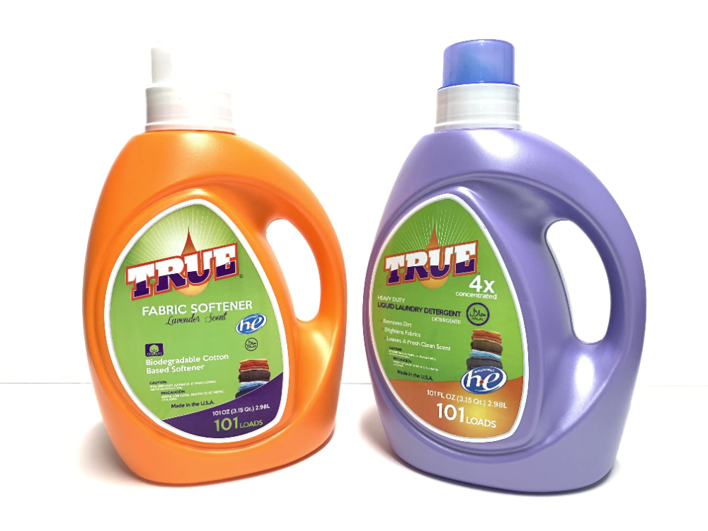True Fabric Softener 101oz And Laundry Detergent 101oz The